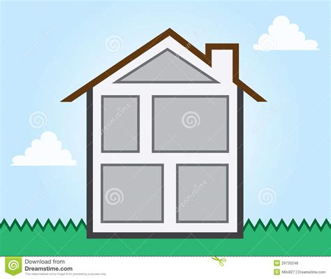 rooms in a house house outline rooms stock vector image of structure