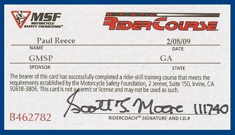 Msf Card Template milestones late biker