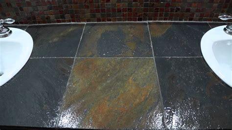 sealing bathroom floor tiles how to seal slate or tiles