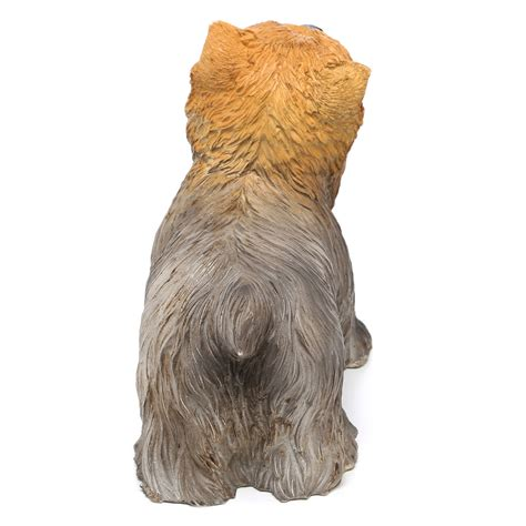 yorkie home decor terrier small yorkie statue statuary sculpture figurine home decor