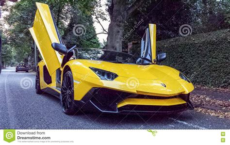 Fastest Stock Lamborghini Lamborghini Aventador Sv Roadster Editorial Stock Photo