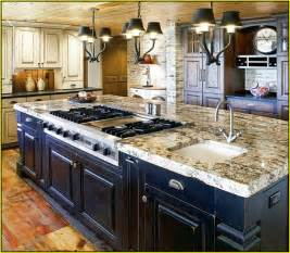 Home improvements refference kitchen island with sink and stove top