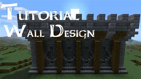 minecraft walls tutorial minecraft tutorial medieval walls version 2 minecraft