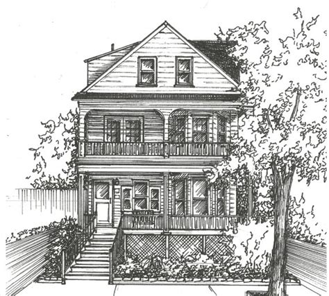 house drawings commission an original ink house drawing architectural