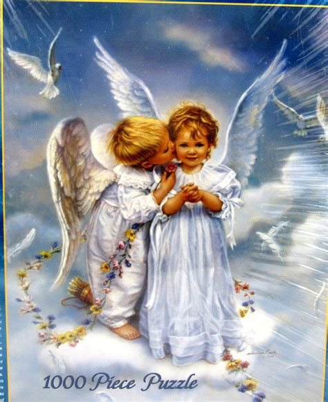 by sandra kuck angels angel kisses jigsaw puzzle by sandra kuck 1000 pieces