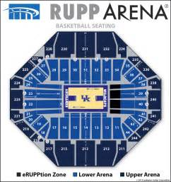 Rupp Arena Floor Plan by Rupp Arena Seating Diagrams