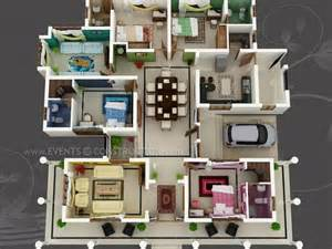 Home Design 3d 1 0 5 by Big House With Colour Coded Rooms 4 Bed 4 Bath Sims