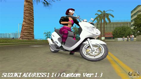 Gta 5 Cross Motorrad Cheat by Suzuki Address 110 Custom Ver 1 3 F 252 R Gta Vice City