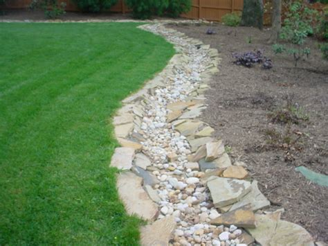 dry creek bed for drainage drainage aca landscaping