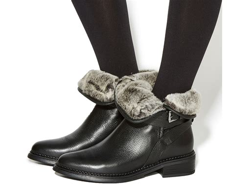 womens black leather biker boots womens office isolate fur lined biker boots black leather