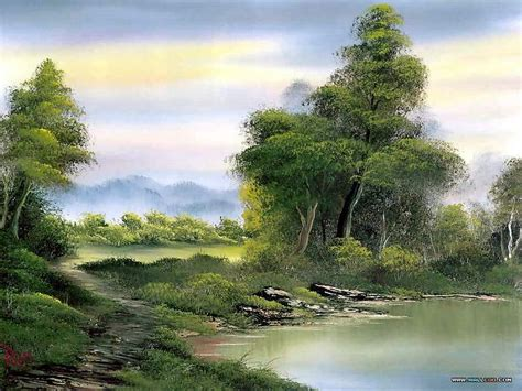 bob ross painting lake peaceful landscape paintings by bob ross bob ross
