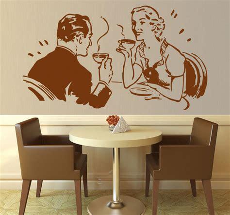 imagenes romanticas tomando cafe vinilo decorativo pareja tomando caf 233 tenvinilo