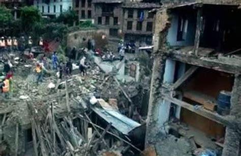 earthquake footage nepal earthquake exclusive drone footage shows