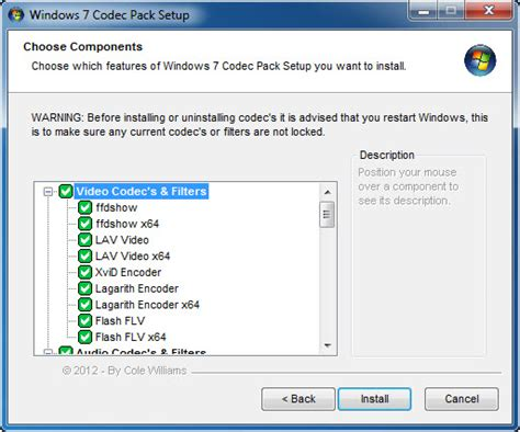 best windows 7 codec pack windows 7 codec pack free and software reviews