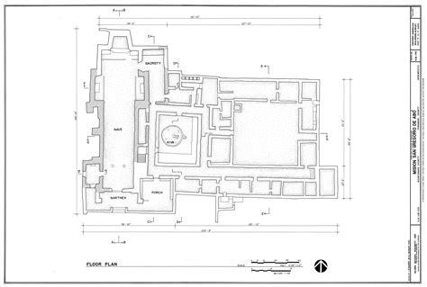 san gabriel mission floor plan mission of san gregoiro de ab 243 floor plan clippix etc