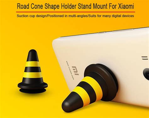 Exclusive 3d Stand Hercules Mobile Phone Holder Multi Color Ter xiaomimi road cone shape stand holder mount for smartphone black yellow jakartanotebook