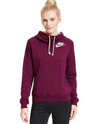 Sweater Coolwoman Maroon size small nike rally funnel neck sweatshirt hoodie