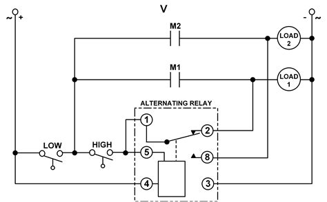 Using Dpdt Cross Wired Alternating Relays With High Low