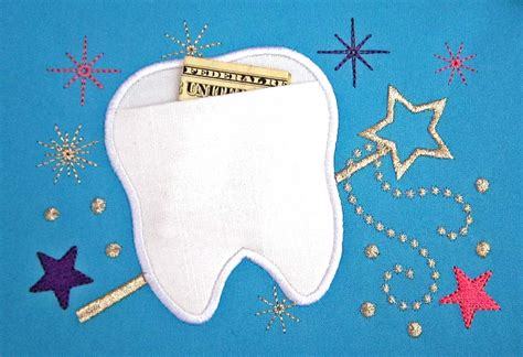 embroidery design tooth fairy the tooth fairy real pocket applique embroidery design two