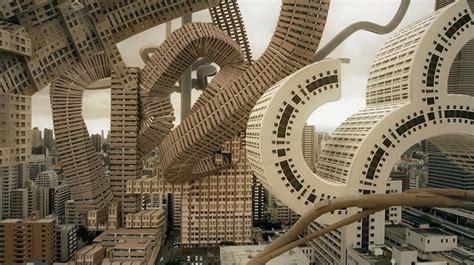 architetture citt visioni riflessioni 8842420484 osaka s skyline transformed into a surreal architectural vision