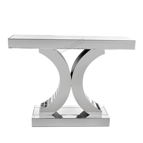 articles with silver mirrored living room furniture tag foxhunter mirrored furniture glass table x console desk