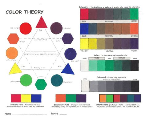 learn primary colors 019 lots of color theory items teaching ideas