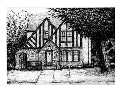 house sketch kyle frink sketch blog charcoal house drawing