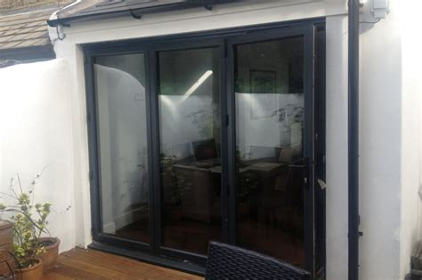 French Doors Upvc Prices - 3 panel grey aluminium bi fold door folding doors 2 u