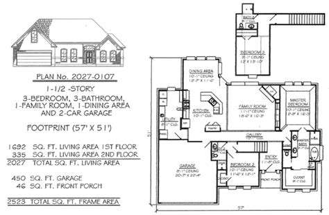 2200 square foot house plans 3 bedrooms 1 189 story under 2200 sq ft