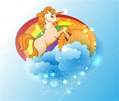 imagenes de unicornios y arcoiris dibujos animados de unicornio sol arco iris y nubes