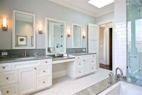 His And Hers Vanity by His And Hers Vanities Painted Cabinets Granite Counters