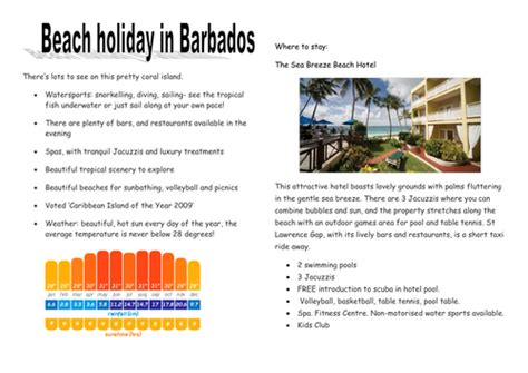 travel brochure template ks2 persuasive writing by asm502 teaching resources