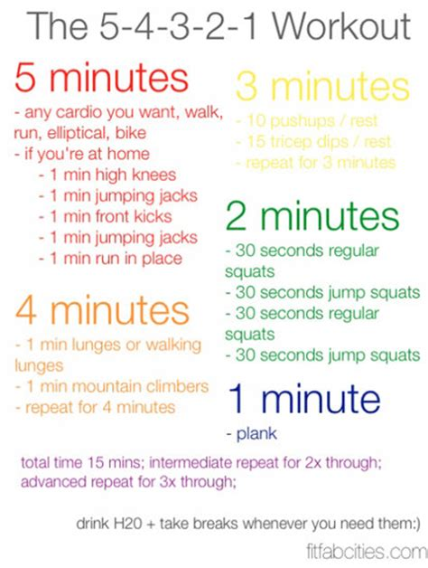 reader fitfabcities has a simple 15 minute workout for you