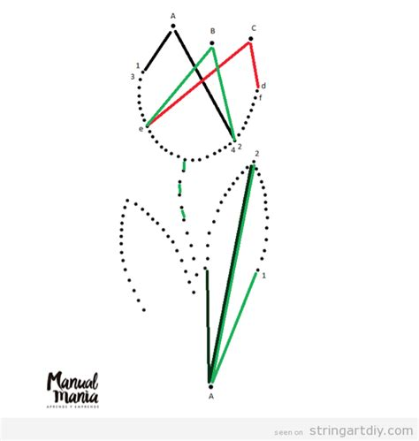 String Pattern - flower string pattern string diy free patterns