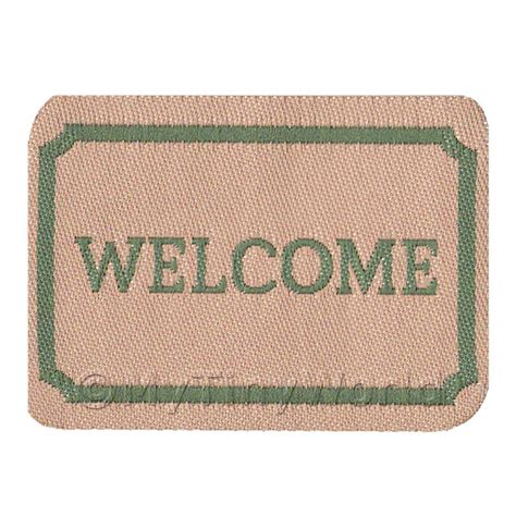 welcome to the dolls house welcome mats dolls house miniature mytinyworld