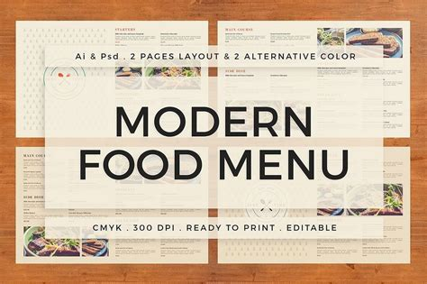 modern menu templates 30 best food drink menu templates design shack