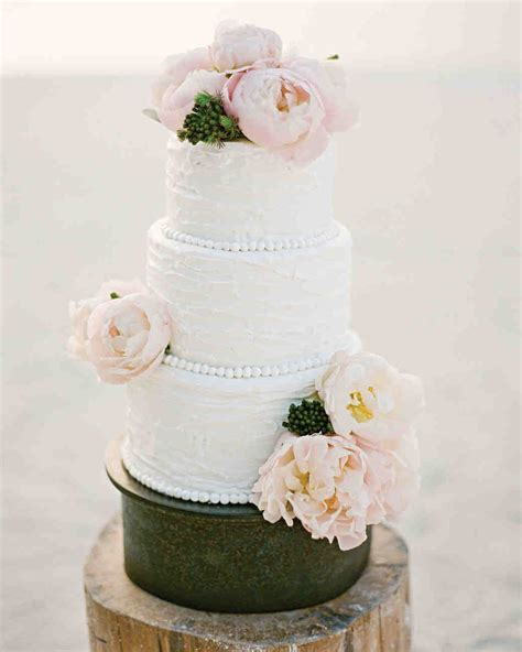 Pink Flower Wedding Cake by 62 Fresh Floral Wedding Cakes Martha Stewart Weddings