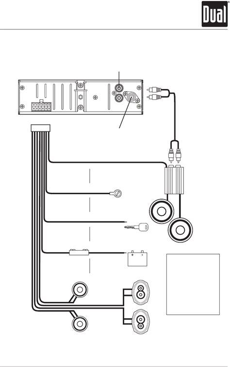 dual model xd1222 wiring diagram dual marine stereo wiring