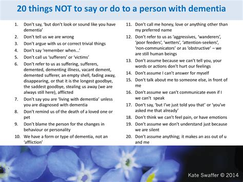 updated 20 things not to say to a person with dementia