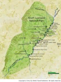 map south south luangwa national park