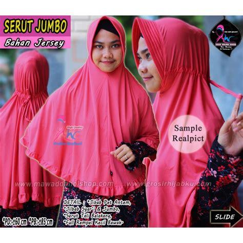 Blouse Jumbo Tangan Serut jilbab serut polos jumbo jilbab syari jersey bergo