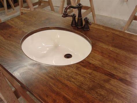 Ideas For Bathroom Countertops Wood Countertop For Bathroom Bath Pinterest
