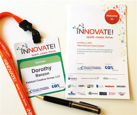 event name tag template event branding the innovate conference katalyst