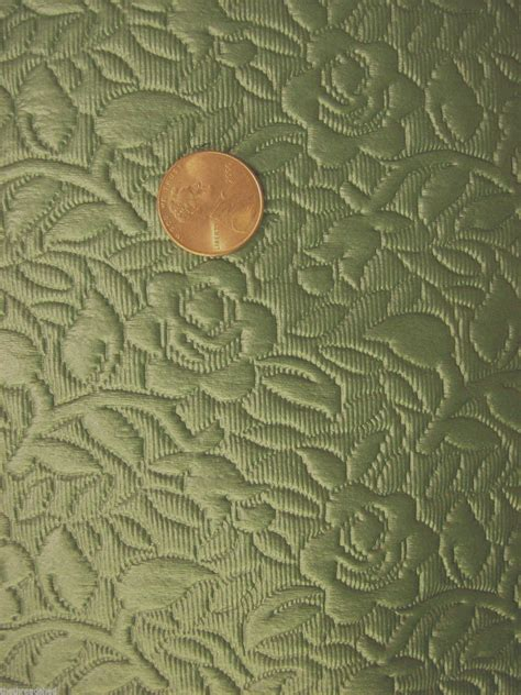 60s Upholstery Fabric by Pc Vintage Quilted Upholstery Vinyl Heavy Fabric Back Teal Green Roses 60s Retro Ebay