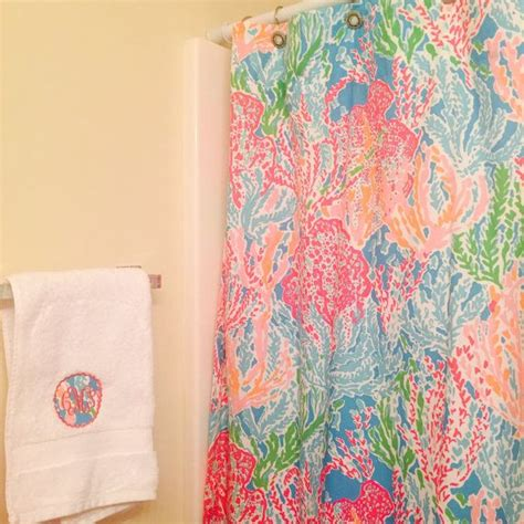 garnet hill lilly pulitzer shower curtain lilly pulitzer monogrammed scallop hand towel personalized