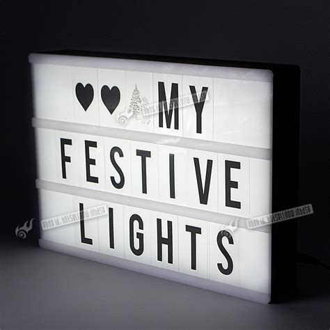 light up letter board a4 cinematic light box led plaques signs lightbox light up