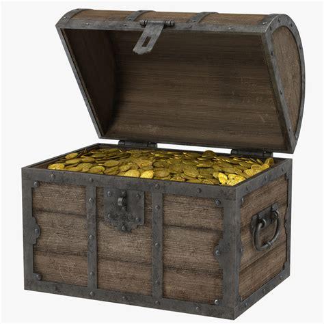 Max And Treasure Box by Treasure Chest 3d Model
