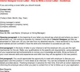 Cover Letter Interior Designer by Cover Letter Interior Design Experience Resumes
