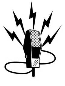 Radio Art Silhouette Download Old Time Microphone Vector Free