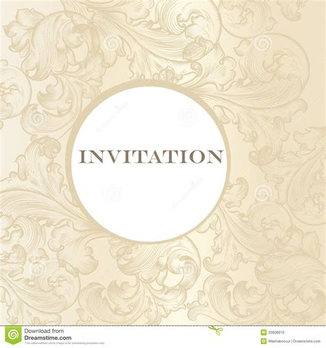 Classic Wedding Card Template by Wedding Invitation Card For Design Stock Vector